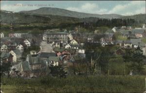 Ashland NH Birdseye View c1910 Postcard - Mailed to Somerville MA