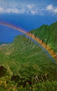 HI - Kauai. Kalalau Valley and Rainbow