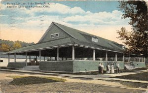 F53/ Lake Brady Kent Ravenna Ohio Postcard 1915 Dance Pavilion  2