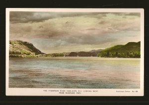 The Thompson River Kamloops BC Series No 65 Hand Colored Real Photo Postcard