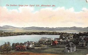 Adirondack Mountains New York Southern Range from Signal Hill Postcard J48174