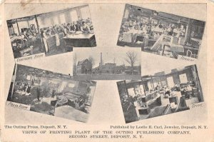 Deposit New York Outing Publishing Printing Plant Vintage Postcard JJ658913