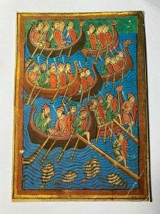 UNUSED ART POSTCARD -  THE VIKING INVASION OF EAST ANGLIA 12TH CENTURY (KK628)