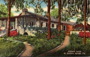 Florida Rainbow Springs Rainbow Lodge Curteich