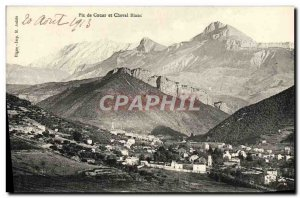 Old Postcard Peak Couar and white horse