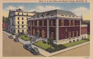 Pennsylvania Meadville U S Post Office And Masonic Temple