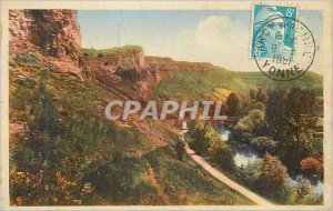 Postcard Old Approx D'Arcy sur Cure St More The Rocks and the Cure View from ...