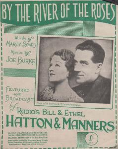 By The River Of The Roses Bill Hatton 1940s Sheet Music