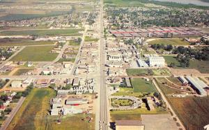 West Memphis Arkansas~Birdseye View~Main Drag~Businesses~1950s Postcard