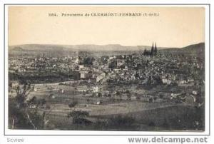 Aerial Panorama Clermont-Ferrand, France 1900-1910s