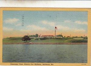 P1797 1946 panorama view fort mchenry baltimore maryland