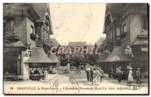 Old Postcard Deauville L & # 39entree the normandy hotel