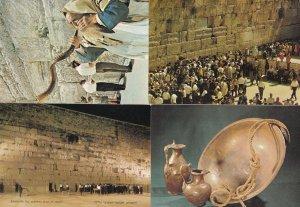 Blowing The Shofar At The Wailing Wall 4x Israel Postcard s