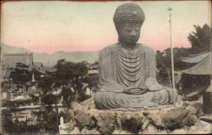 Japan - Bhuddha Statue Nofukuu Daibutsu Hiogo c1910 Postcard
