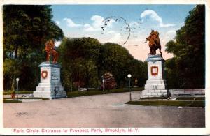 New York City Brooklyn Prospect Park Park Circle Entrance 1916