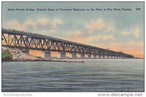Bahia Honda Bridge Highest Span Of Overseas Highway On Way To Key West Florida