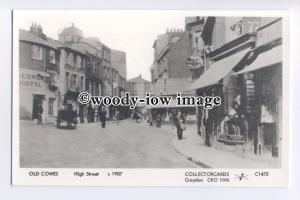 pp2164 - Isle of Wight - View along Cowes High Street, in 1907 - Pamlin postcard