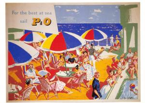 Postcard For the Best at Sea Sail P&O Cruises Reproduction Advertising Card F44