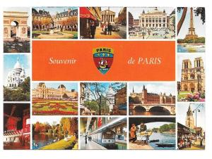 Paris France Landmarks Vintage Yvon Multiview Postcard