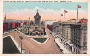Copley Square and Copley Plaza Hotel, Boston, MA., Early Postcard, Unused