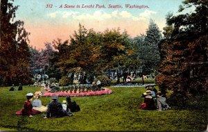 Washington Seattle Scene In Leschi Park 1915