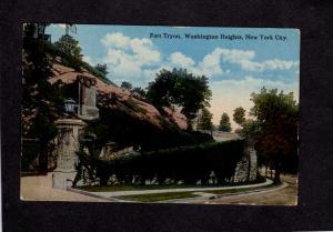 NY Fort Ft Tryon Washington Heights New York City NYC Postcard 1924