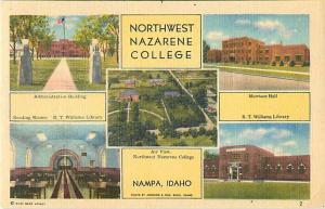 Views of Northwest Nazarene College at Nampa Idaho ID Linen
