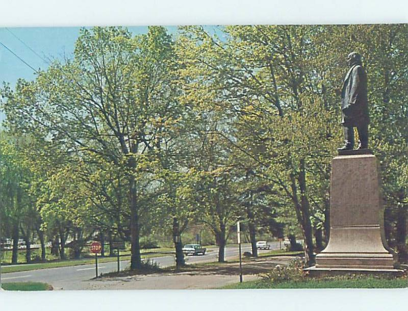 Pre-1980 HORACE GREELEY STATUE Chappaqua - Near Tarrytown & New City NY F1669