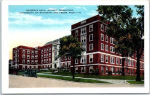 University of Michigan Postcard COUZEN'S HALL Nurses' Dormitory Ann Arbor c1930s