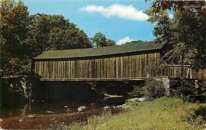 Salmon River Connecticut~Covered Bridge in Salmon River State Park 1950 Postcard