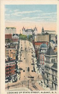 Looking Up State Street - Albany NY, New York - Mini Card 3.5 x 2.25 inches - WB
