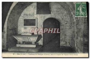 Old Postcard Eu Tomb of Philippe d & # 39Artois in the crypt of Our Lady & # ...