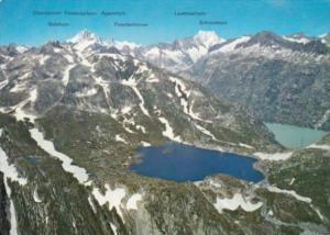 Switzerland Grimselpass mit Totensee Grimselsee und Oberaargletscher