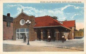 LP99 Chillicothe  Ohio Postcard  Scioto Valley Traction Co. Depot