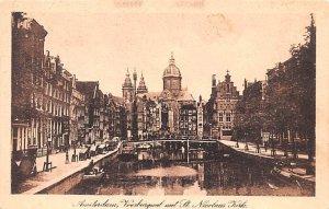 Voorburghval met St Nicolas Kerk Amsterdam Holland Unused
