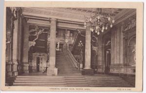 Argentina; Vestibule of Jockey Club, Buenos Aires PPC, 1934 PMK to GB