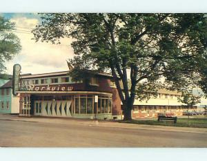 Pre-1980 OLD CARS & PARKVIEW MOTEL IN MONCTON New Brunswick NB CANADA r0323