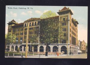 CLARKSBURG WEST VIRGINIA WALDO HOTEL ANTIQUE VINTAGE POSTCARD