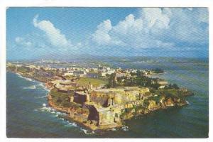 El Morro Castle, showing city of San Juan, Puerto Rico,   40-60s