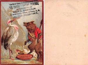 Approx Size Inches = 3 x 4.50 The Favorite Baking Powder Trade Card