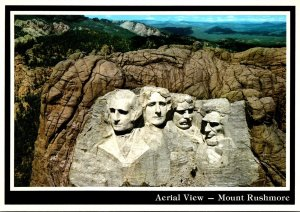 South Dakota Black Hills Aerial View Mount Rushmore