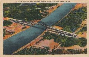BOURNE , MA , 1943 ; Air View of New Bourne Bridge over Cape Cod Canal