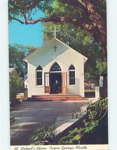 Unused Pre-1980 CHURCH SCENE Tarpon Springs - Near Tampa Florida FL A7754