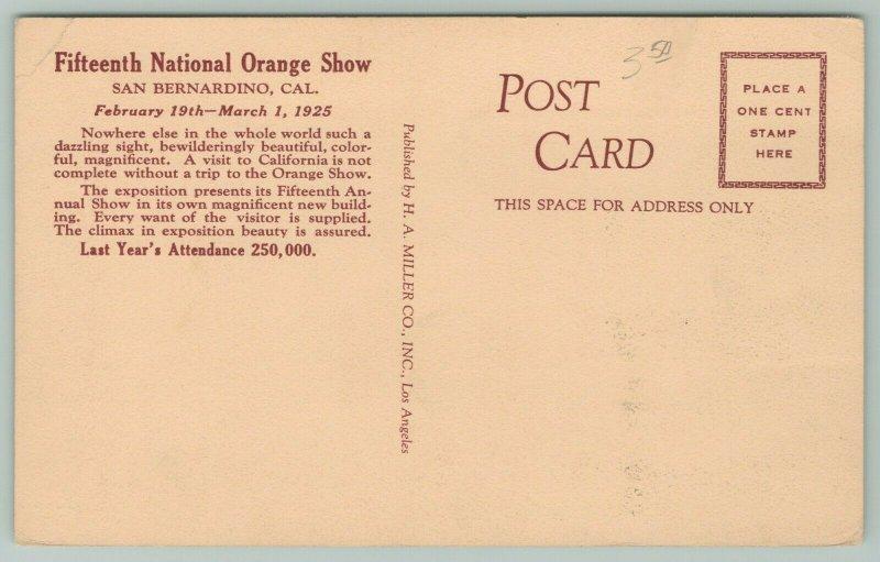 San Bernardino California~15th National Orange Show~Exhibits Close Up 1920s
