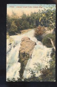 DULUTH MINNESOTA CHESTER CREEK FALLS WATERFALL VINTAGE POSTCARD 1913