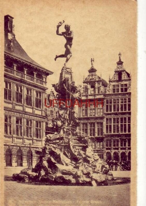 BELGIUM. ANTWERPEN. GROOTE MARKTPLAATS - FONTEIN BRABO
