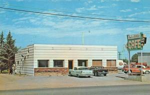 Butte MT Fred & Millie's Roadside Cafe Old Cars Postcard