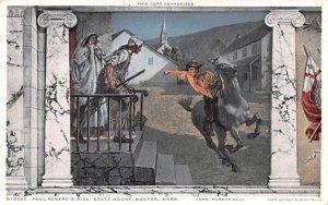 Paul Revere's Ride in Boston, Massachusetts State House.