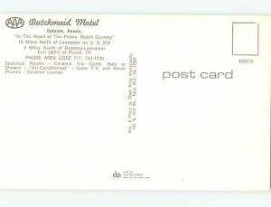 Unused Pre-1980 DUTRCHMAID MOTEL Ephrata Pennsylvania PA u0969