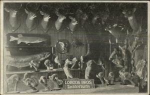 Milwaukee WI Loboda Bros Taxidermists Adv Card Postcard Size BLANK Backside`